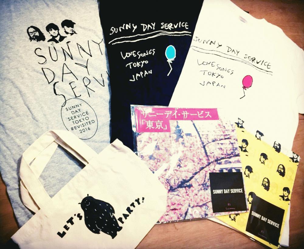 ROSE RECORDSオンラインショップにて、サニーデイ・サービスのTシャツ、ハンカチ、トートバッグの販売を開始しました。