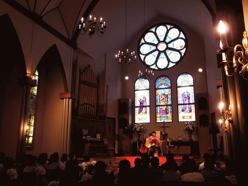 """曽我部恵一 LIVEセットリストUPしました。9/22<""""THE ROSE PARTY"""" 曽我部恵一 church live in 東武トレジャーガーデン>@東武トレジャーガーデン 聖ペテロ&パウロ教会"""