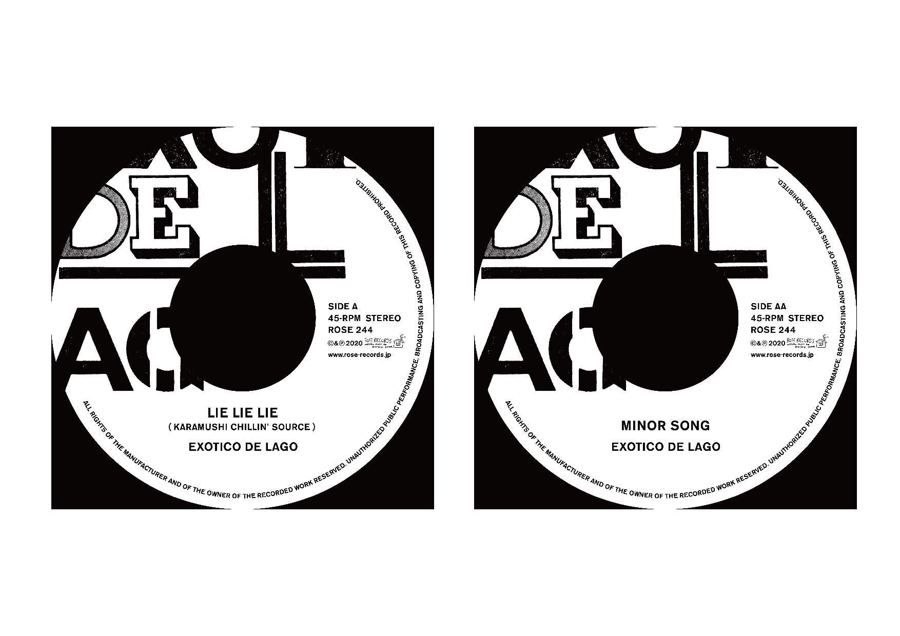 EXOTICO DE LAGO 両A面の限定7inchシングルをリリース!!