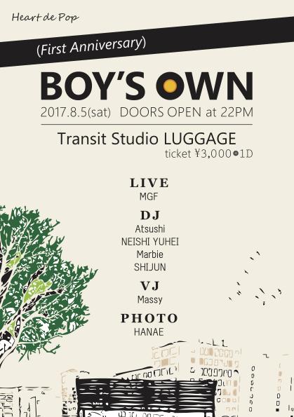 <BOY'S OWN>@名古屋 Transit Studio LUGGAGE